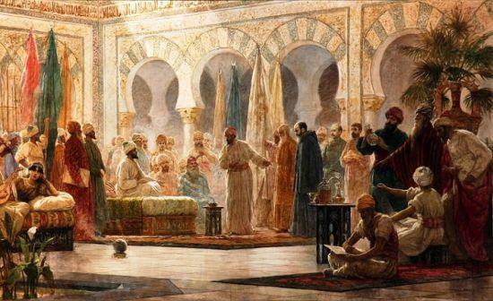 Endülüs Arap kültürünü gösteren bir tablo