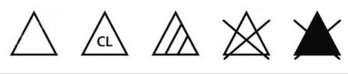 Ağartma sembolleri ve anlamları