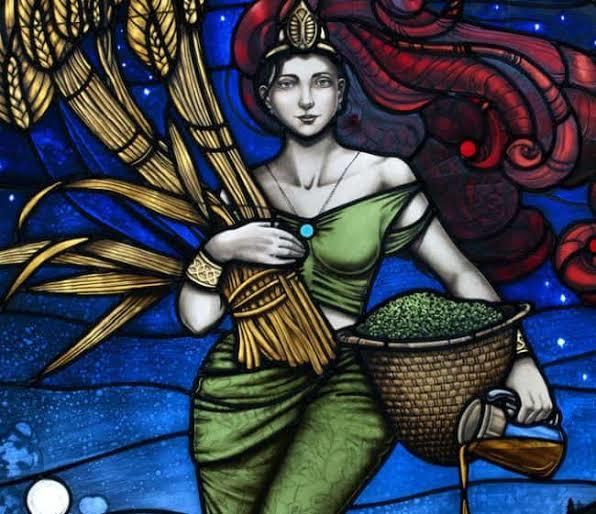 Görsel sümer bira tanrıçası ninkasinin modern uyarlaması