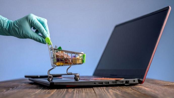 Günümüzün alışverişlerini temsilen.