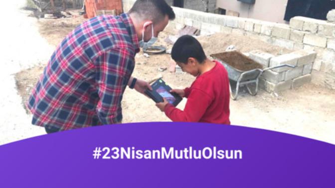 #23NisanMutluOlsun Bağış Kampanyamızda Alınan Tabletler Öğrencilere Ulaştı🎉!