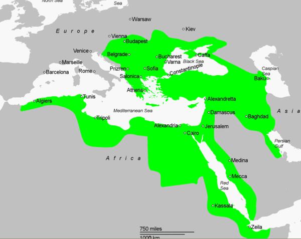 Kanuni Sultan Süleyman döneminde Osmanlı haritası
