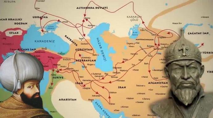 Ankara   Savaşı öncesi Timurun geçtiği güzergâhlar