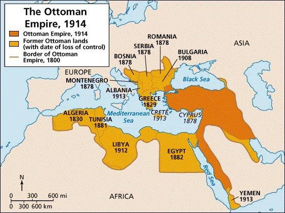 II. Abdülhamidden Mehmed Reşada kadar kaybedilen topraklar