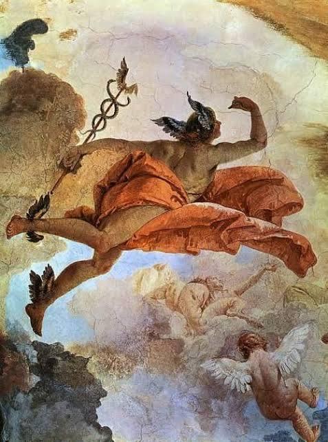 Hermes ikizler burcunu da temsil eder. Konuşma becerisi ve zekayı temsil eder.