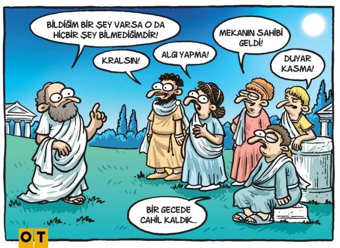 Karikatürist Selçuk Erdeme ait bir karikatür.