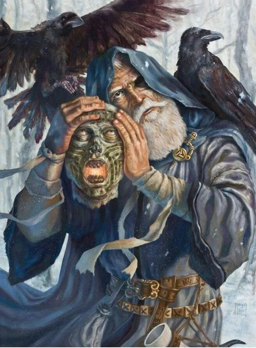 Mimirin Kafasıyla Odin
