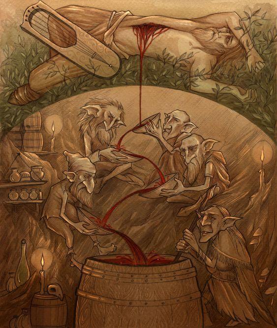 Odinin likör için vücudunu feda etmesi