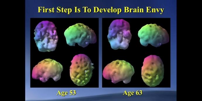 Beyin sağlığı programı alan kişi