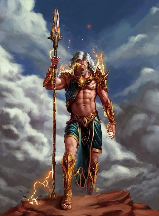 Zeus; Göklerin, Şimşeklerin ve Gökgürültülerinin Tanrısı