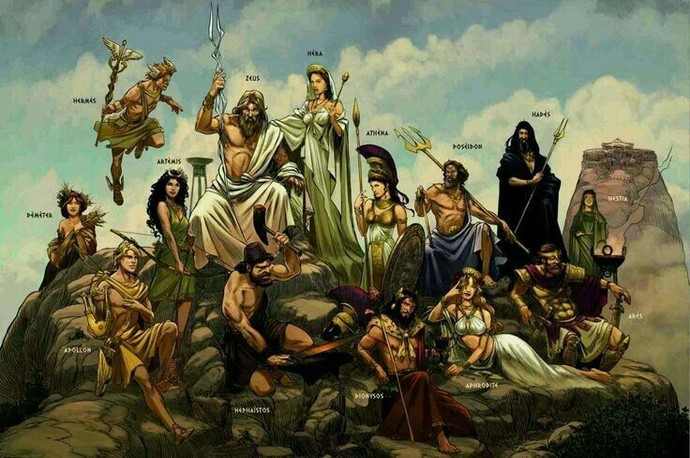 Yunan mitolojisinde 12 Titan Tanrısı
