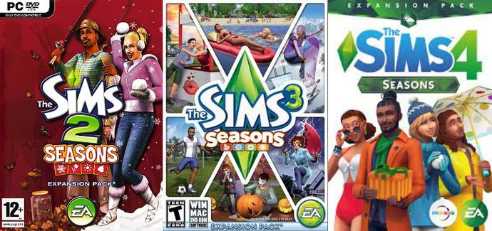 Bütün Sims Oyunlarındaki Mevsimler Eklenti Paketleri