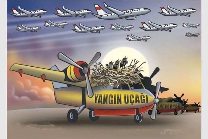 Makam uçağı Yangın uçağı