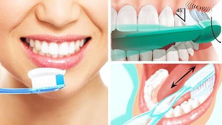 Diş fırçamızı 45 derecelik açı ile yerleştirdik