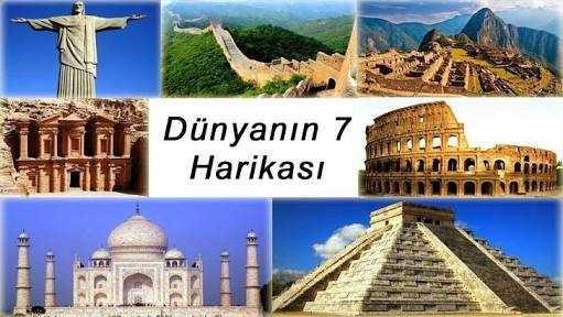 Dünya'nın 7 harikasından hangisini görmek istersiniz?