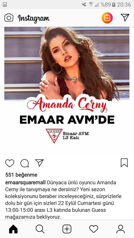 Amanda Cerny Emaar Avm'ye geliyormuş. Görmeye gidecek misiniz :D?