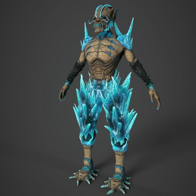 Arkadaşlar tasarladığım yaratık sonunda bitti. nasil sizce (bilgisayar oyunu için hazırlanmıştır)?