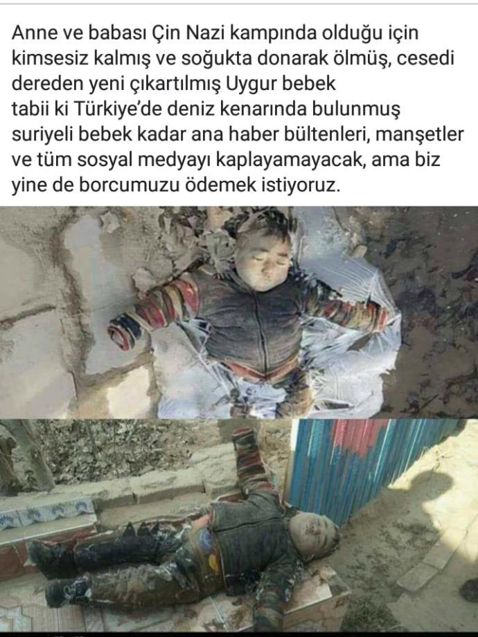 Donarak Ölen Uygur Türkü Bebek?