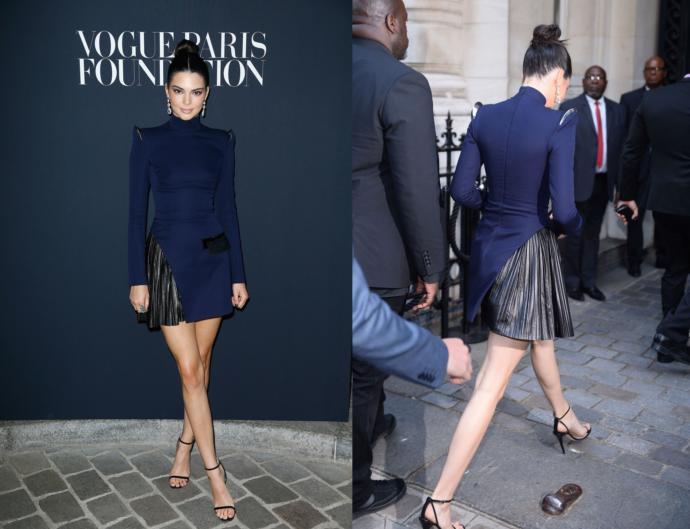 Hangi ünlünün lacivert elbisesi daha şık sizce?