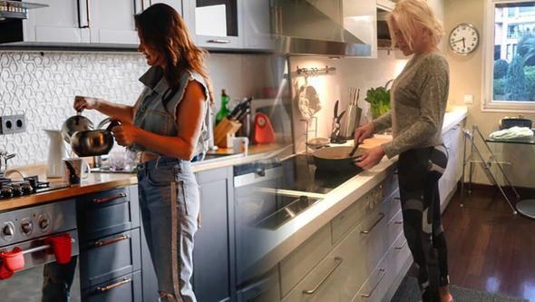 Ajda Pekkan'ın mı yoksa, Nurgül Yesilçay'ın mı mutfak hali daha güzel sizce? Mutfak savaşları mı başlıyor sence?