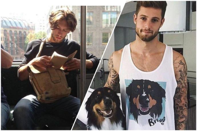 Kitap okuyan ve hayvan sever