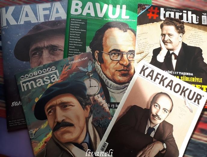Kafa, Masa, Bavul, Kafkaokur, Tarih dergileri