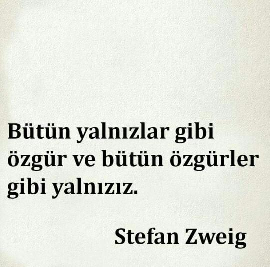 Zweig 'in sözüne katılıyorsunuz değil mi? 😂?