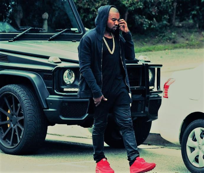 Kanye West ve kırmızı ayakkabıları