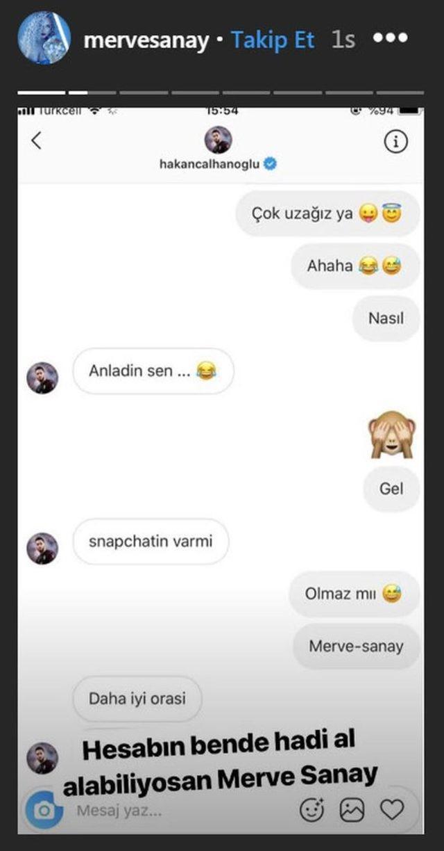 Merve Sanay'ın hesabı hacklendi, Hakan Çalhanoğlu ile konuşmaları ifşa oldu. Dm'den yürüme konusunda kendinize güveniyor musunuz?