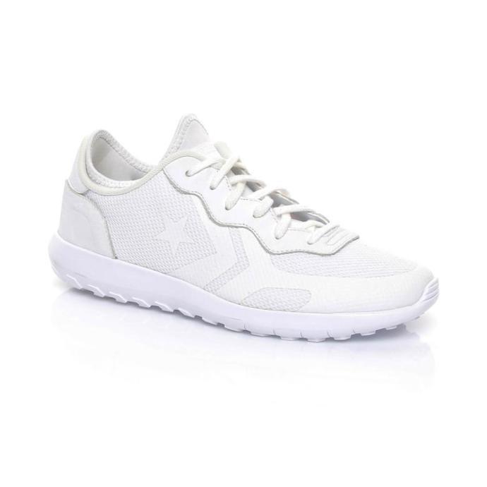 Bu beyaz spor ayakkabılardan hangisinin duruşu daha güzel?
