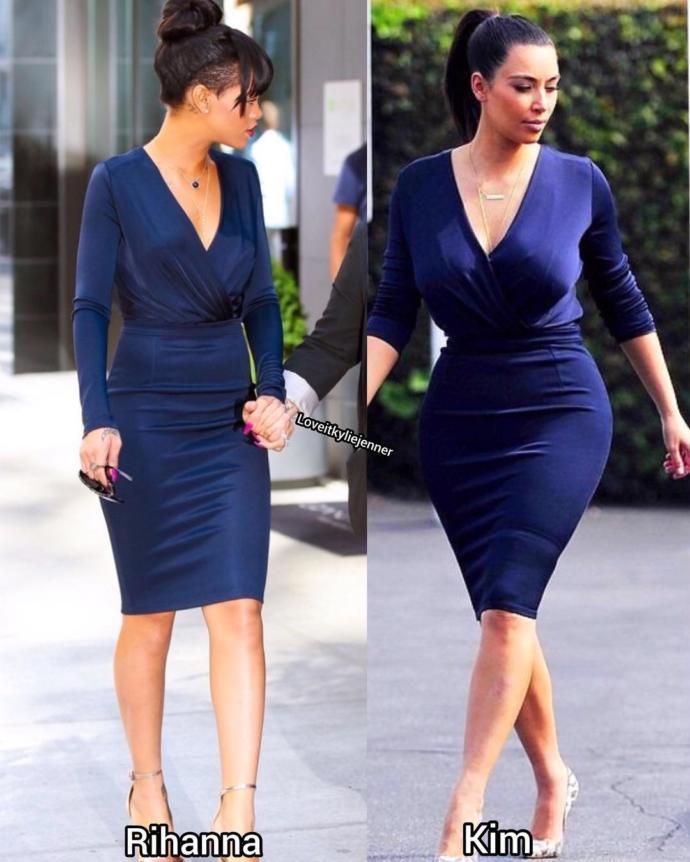 Rihanna ile Kim Kardashian saç baş kavga etse kim döver?