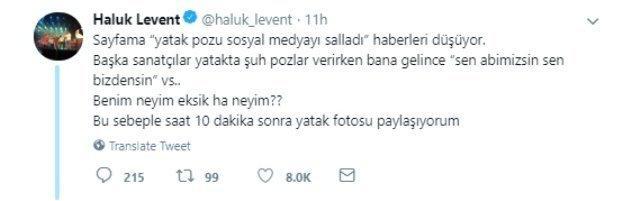 'Benim neyim eksik' dedi yatak fotosu paylaştı! Haluk Levent'tin bu paylaşımı hakkında düşünceleriniz neler?