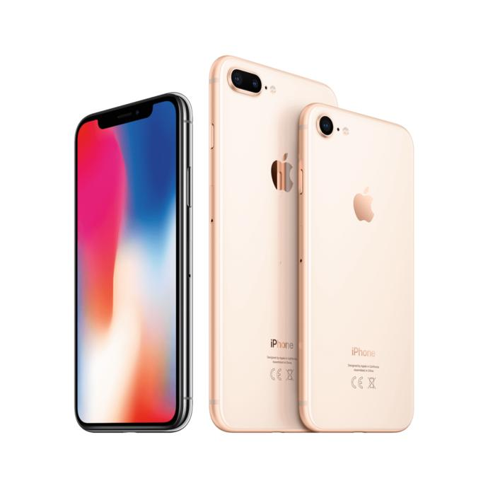 En sol daki iphone x ortada ki 8plus?