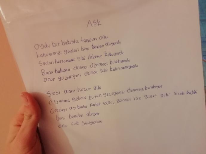 Kızlar sevdiğim kıza şiir yazdımda nasıl olmuş beğenir mi şiiri mi?