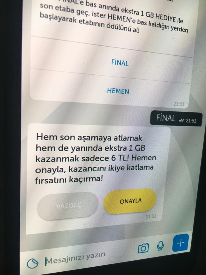 Turkcell kim 1 gb ister yarışması?