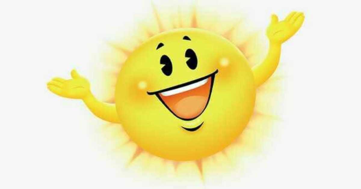 Поздравления, прикольное солнышко рисунок