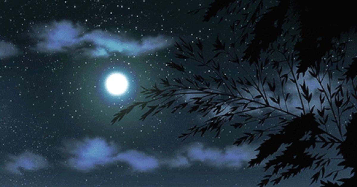 Звезды и луна гифы, спасибо заботу тепло