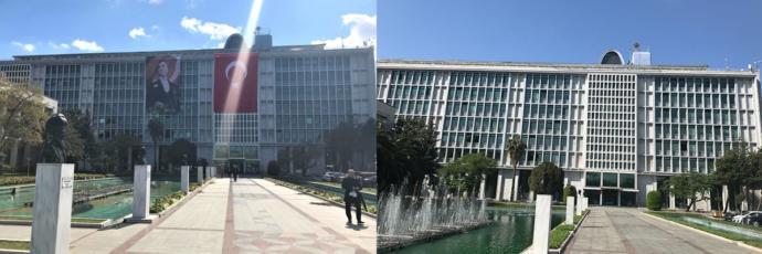 İmamoğlu dönemi İBB binası/AKP dönemi İBB binası