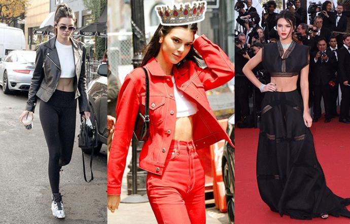 Herkes irite edici buluyor, o kendine yakıştırıyor! Kendall Jenner'ın hangi crop top üst kombini favorin?