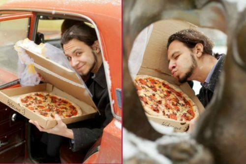 Rus genç pizzayla evlendi! Peki sen hangi yiyecekle evlenmek istersin?