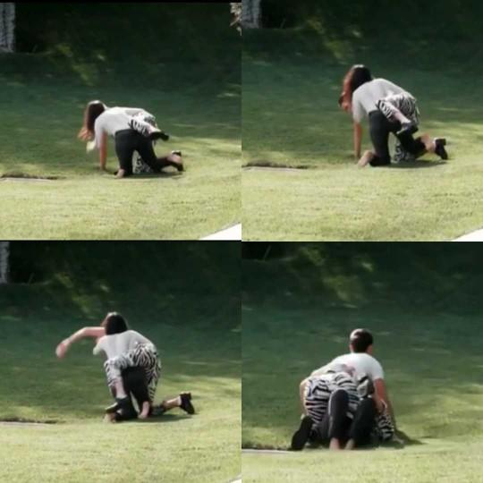 Kendall Jenner mı dövdü Kourtney Kardashian mı? Fotoğraflara göre sizin yorumunuz nedir?