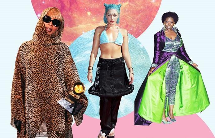 Şimdilerde moda ikonu kesilen hangi ünlünün 90'lar kırmızı halı tarzı gözlerinizi kanatıyor?