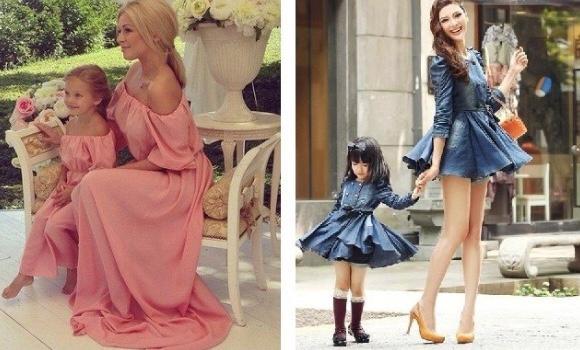 Son günlerin yükselen trendi: Anne-kız bir örnek giyinme! Sizce anne-kız bir örnek giyinmeli mi?