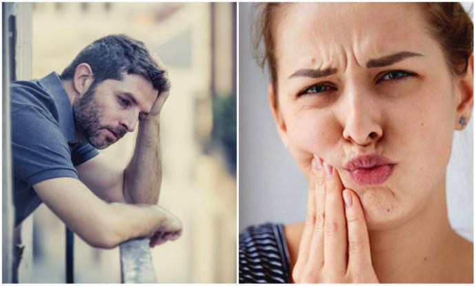 acı çeken erkek ve kadın