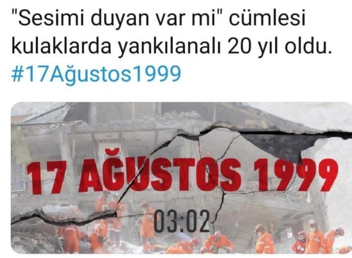 17 ağustos depreminde neredeydiniz?