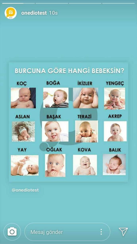 Burcuna nasil bir bebeksin?
