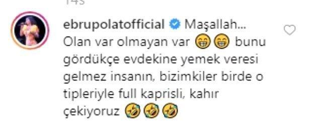 Ebru Polat'ın, Can Yaman'ın fotoğrafına yaptığı yorum olay oldu! Eşiniz karşı cins için böyle bir yorum yapsa ne tepki verirsiniz?