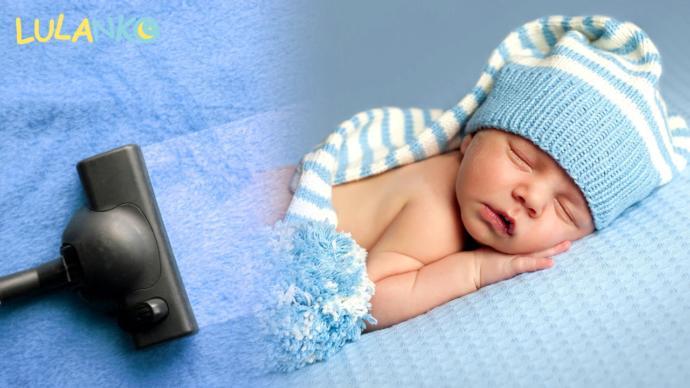 elektrik süpürgesi sesiyle uyuyan bebek