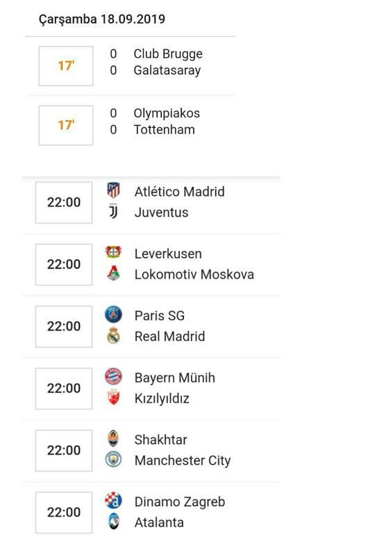 Keyifli akşamlar 🙋 Şampiyonlar Ligi hangi maçını izleyeceksiniz? ⚽ Club Brugge - Gs maç skoru n'olur?