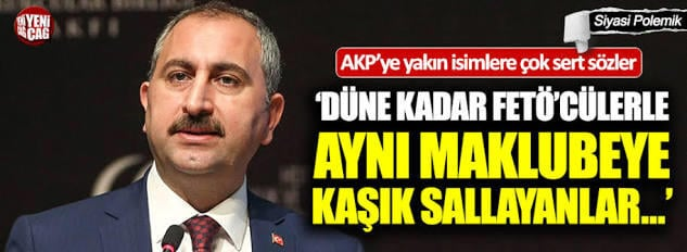 Adalet Bakanı Gül, Ekonomi Bakanı Albayrak yanlısı Pelikancılara adeta ateş püskürdü.